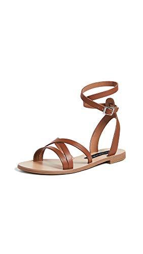 Steven Women's Matas Ankle Strap Sandals, Brown, 5.5 M US