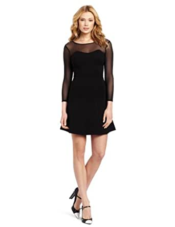 French Connection Women's Fast Power Stretch Dress, Black, 4