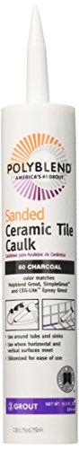 Custom Building Products SE/EN 1 QT Polyblend Pc6010S-6 Sanded CeramicTileCaulk, 10.5 Oz, Cartridge, No 60 Charcoal, Liquid,