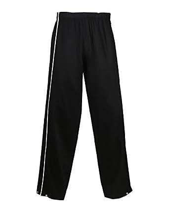 Badger Ladies Razor Polyester Brushed Tricot Long Pant - Black/ White - S