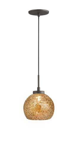 Woodbridge Lighting 13323MEB-M00MIR 1-Light Mini Pendant, 7-Inch by 84-Inch Maximum, Metallic Bronze