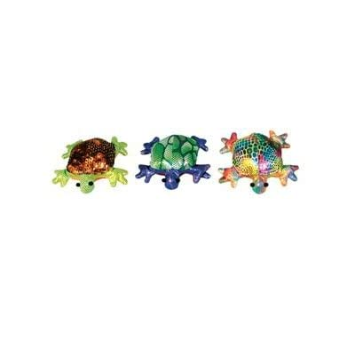 Colorful Glitter Turtle Sand Animal, Collectible Toss Toy, 3-inch, (1-pc Random): Toys & Games