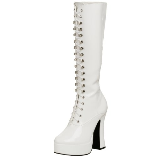 Pleaser Women's Electra-2020,White Patent,8 M