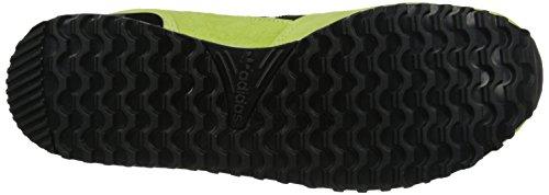 Adidas Originals Zx 700 Lifestyle esecuzione scarpa da tennis, nero / luce solido grigio / nero, 4 M Light Flash Yellow/Core Black/White