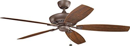 Kichler 310193TZP Canfield XL Patio 60″ Outdoor Ceiling Fan