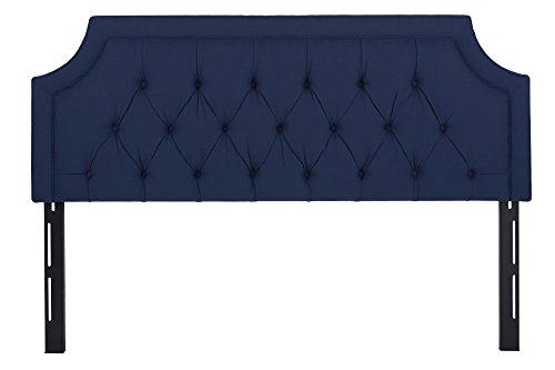 Jennifer Taylor Home Kaye Collection King Size Size Modern Adjustable Diamond Tufted Bed Headboard, King Size, Dark Midnight Blue