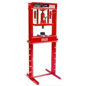 Sunex 5712 Fully-Welded Manual Hydraulic Shop Press, 12 Tons by Sunex Tools