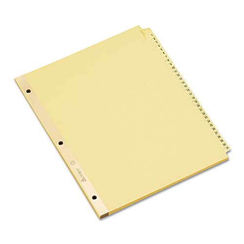 Avery 11308 Preprinted Laminated Tab Dividers w/Gold Reinforced Binding Edge, 31-Tab, Letter