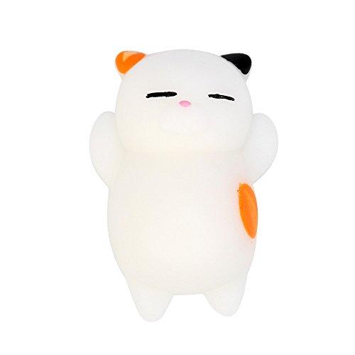 JPJ(TM)1Pcs Kids Fashion Cute Mochi Squishy Cat Squeeze Healing Fun Kawaii Toy Stress Reliever Decor (D)