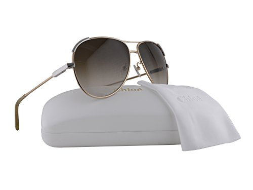 Chloe CE118S Sunglasses Gold Gray w/Brown Gradient Lens 753 CE - Aviator Sunglasses Chloe