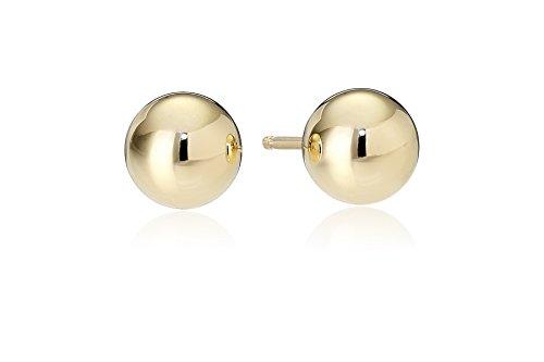 18k Yellow Gold 5mm Ball Stud Earrings
