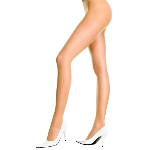 French Cut Support Sheer Pantyhose (Beige;One Size) - French Cut Pantyhose