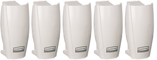 Rubbermaid Commercial Products 1793547 TCell Automated Odor-Controlling Aerosol Air Care System, Fanless, White (5 PACK) by Rubbermaid Commercial Products