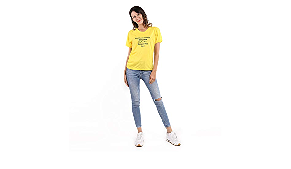 MOONQING blusa amarilla para mujer, camiseta de manga corta ...