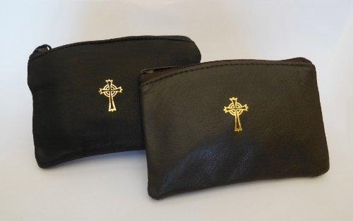 mds Sheepskin Leather Rosary Case Black - Rosary Bag Black