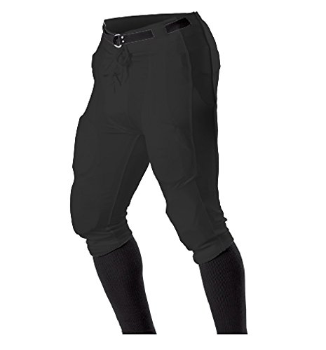 Alleson Athletic Youth Dazzle Football Pant 698DPY Black Small