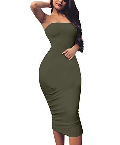 BORIFLORS Womens Sleeveless Strapless Bodycon product image