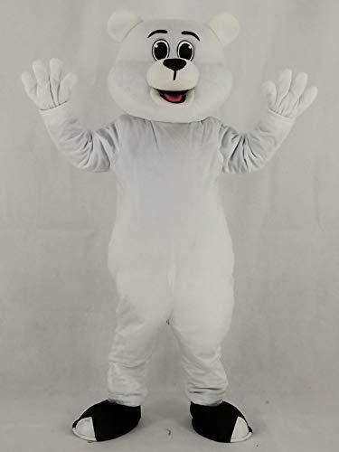 rushopn White Polar Bear Mascot Costumes Animal -