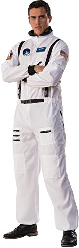 White Astronaut Adult Costumes (Men's Space Commander Astronaut Moon Walk Suit Costume Large 42-46)