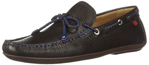 Marc Joseph New York Mens Genuine Leather Cypress Hill Driver Driving Style Loafer, Brown Grainy/Blue Stitch, 8.5 D(M) US