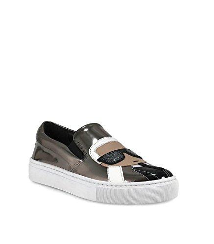 Karl Lagerfeld Lady Kl610011md Slip In Pelle Grau Sulle Sneakers