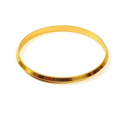 Jewbang Gold Plated 2-14Size Bracelet Or Kada for Men-JB439BDIW Men's Kadas at amazon