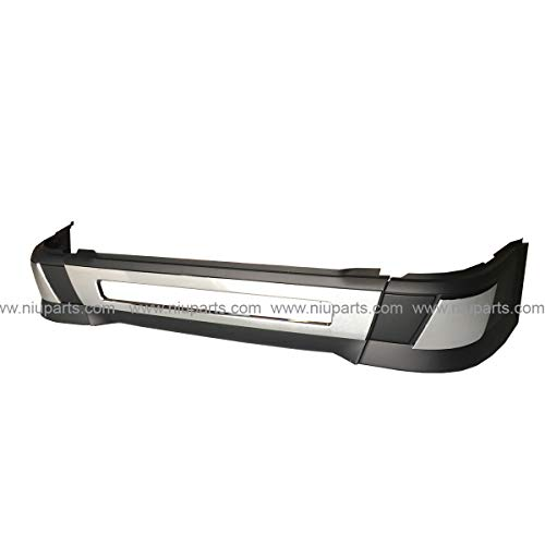 6 Pieces Combo - Central Bumper with Trim & Side Bumper W/O Hole with Cap Cover - Driver and Passenger Side (Fit: Volvo VNL 630 670 730 780 (2004-2015) and VNL 680 (2006-2009) Trucks)