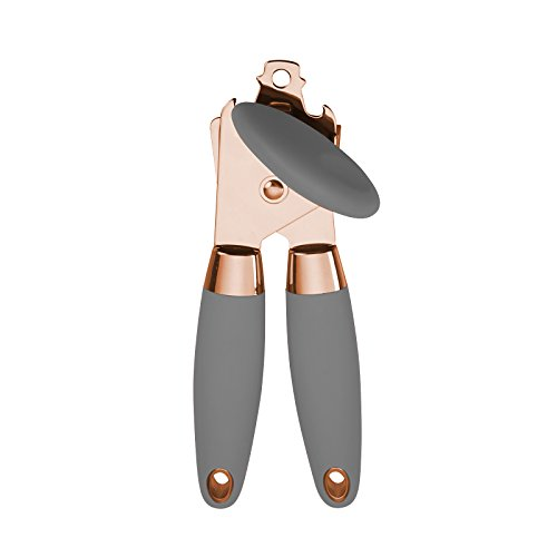 COOK with COLOR Manual Rose Gold and Gray Can Opener with Large Knob and Bottle Cap Opener… by Cook With Color