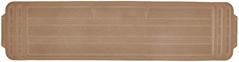 Motor Trend Odorless Rear Seat Runner Rubber Floor Mat Liner for 2nd or 3rd Row Car SUV Van, Durable Heavy Duty Polymerized Latex Full Interior Protection