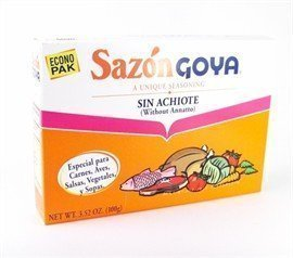 Goya Sazon Sin Achiote / Sazon Without Annatto 3.52oz 10 Pack (Authentic Puerto Rican Rice And Beans Recipe)
