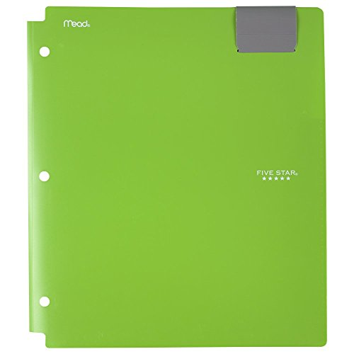 (Five Star 4-Pocket Folder, Plastic, High Capacity, Folders with Pockets, Color Selected For You (33190))