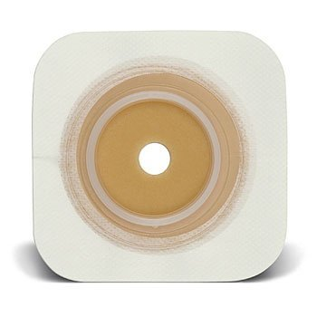 "UPC 768455106202, Natura Durahesive Flexible Skin Barrier w/flange (overall dimension 4"" x 4"") WHT w/tape collar 1 1/2"" (38mm.)"