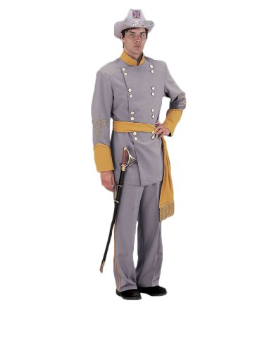 [Deluxe Civil War Confederate Officer Theatrical Quality Costume, Large] (Civil War Union Officer Costumes)