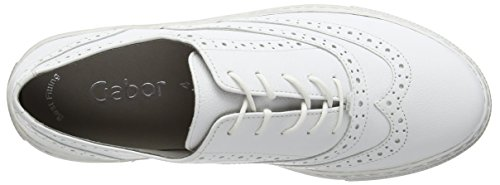 Shay Basses Femme White Blanc Gabor white Sneakers Leather zqBWdqZC