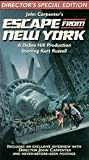 Escape From New York VHS Tape