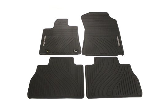 Genuine Toyota Accessories PT908-34121-20 Front and Rear All-Weather Floor Mat (Black), Set of 4