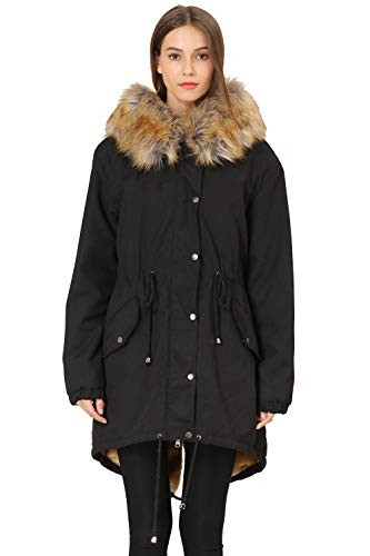 Vieliring Women's Hooded Coat Parka Plus Size Big Fur Collar Hooded Women's Snow Parka Coat Jacket Winter Long Outwear…