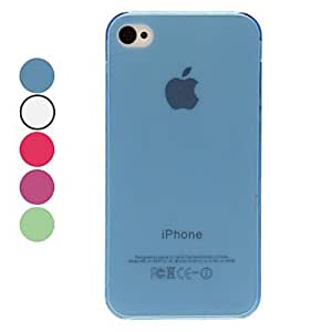 Transparent Solid Color TPU Hard Case for iPhone 4/4S (Assorted Colors) --- COLOR:Red