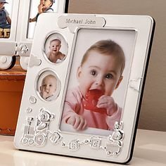 "Lenox Bundle of Joy Baby Picture Frame 7.5"" Hold 3 Photos"