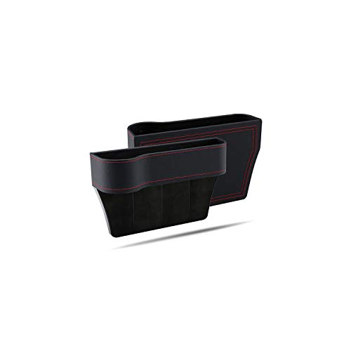 Storage Box Car Organizer Seat Gap Pu Case Pocket Car Seat Side Slit for Wallet Phone Coins Cigarette Keys Cards for Universal,Left and Right