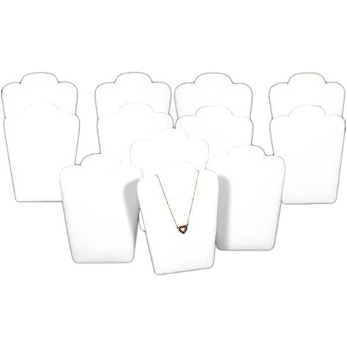 Faux Leather Padded Necklace Display - FindingKing 12 Black Velvet Padded Necklace Pendant Display Bust Easels 5.25