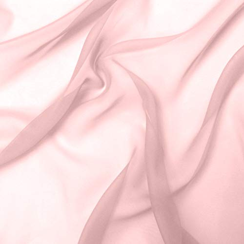 Dusty Rose Tulle - Chiffon Fabric | 5 Yards Continuous | 60
