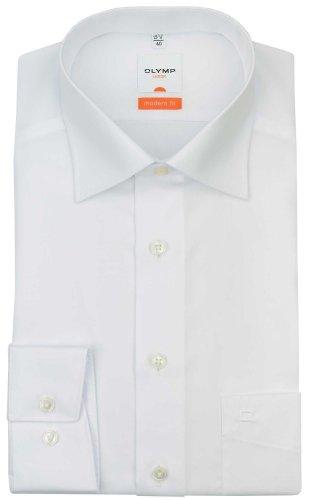 OLYMP Luxor modern fit Hemd extra langer Arm Popeline weiß AL 69