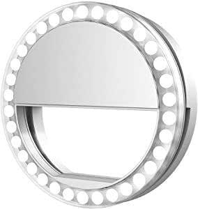 Black Selfie LED Flash Ring For Phone Longay LED Light Ring Fill Clip Camera For IPhone /& Tablet /& Samsung /&Smartphones
