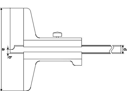 CNC QUALIT/ÄT Tiefen-Messschieber 200 mm