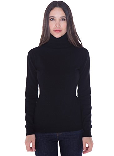 shmere Turtleneck Sweater Pullover for Women ()