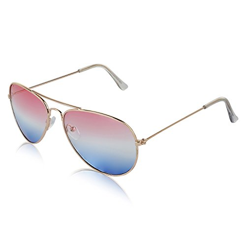 Military Sunglasses Gold Retro 70's Unisex Shades Designer Eye Glasses Pink - Aviator Sunglasses Vintage