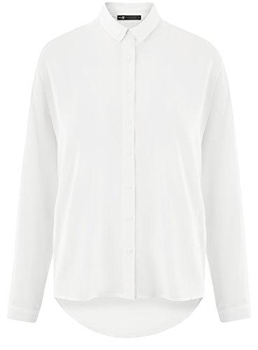 Dos 1200n oodji Ultra Allong en Blanc Viscose Femme Chemisier CBCxqP