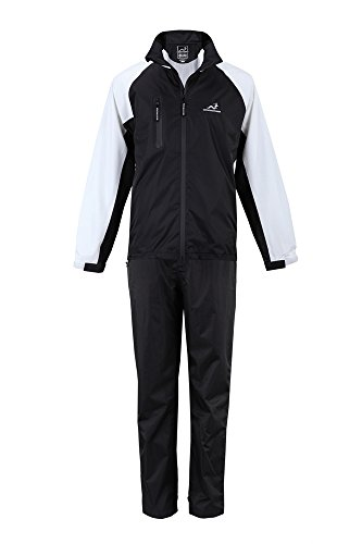 Woodworm Golf V2 Waterproof Suit Inc Jacket and Trousers Black X Large