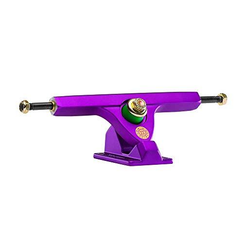 (Caliber Trucks II Fifty Caliber 184mm Hi Satin Purple Longboard Trucks 50 Degrees - 10